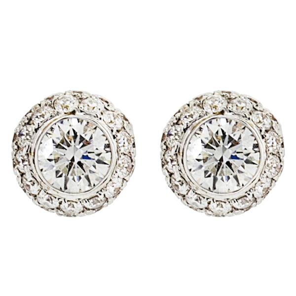 DIAMOND ENCRUSTED STUD EARRINGS
