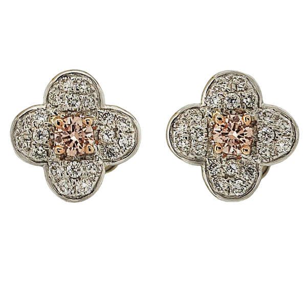 PINK DIAMOND FLEUR EARRINGS